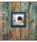 MBI 12\u0027\u0027x12\u0027\u0027 Post Bound Album with Window-Vintage Travel Faux Wood