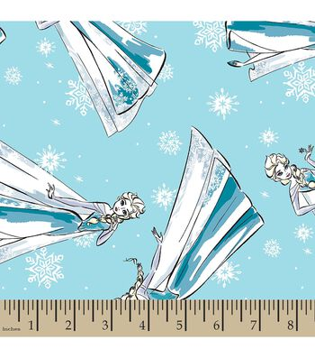 Disney Frozen Print Fabric-Sketched Elsa