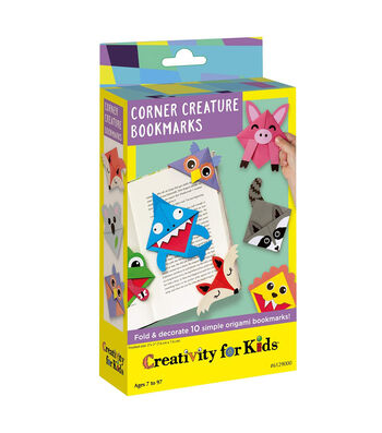 Creativity for Kids Corner Origami Creature Bookmarks