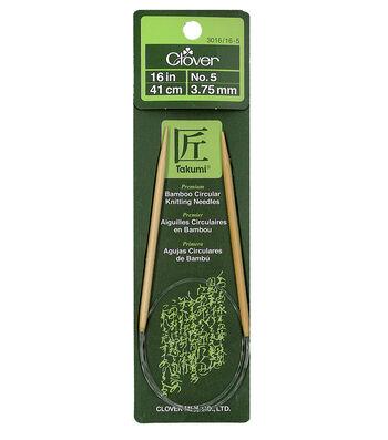 "Takumi Bamboo Circular Knitting Needles 16""-Size 5/3.75mm"