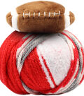 DMC Top This! Team Colors Yarn-Red & White