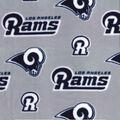 Los Angeles Rams Fleece Fabric-Logos on Gray