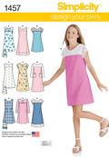 Simplicity Pattern 1457AA 8-10-12-14-Girl Boy Dresses