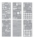 Me & My Big Ideas Pocket Pages Clear Stickers 6 Sheets/Pkg-Baby Girl