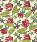 8\u0022x8\u0022 Swatch Home Decor Print Robert Allen-Brigh Floral -Fuchsia