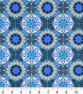 Snuggle Flannel Fabric 43\u0027\u0027-Purple & Blue Tile Medallion