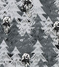 Snuggle Flannel Fabric -Camouflage Bears in Trees