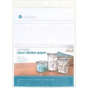 "Silhouette Printable Sticker Paper 8.5""X11"" 8/Pkg-Clear, , hi-res"