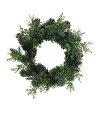 Blooming Holiday Christmas 22'' Pine Mini Wreath