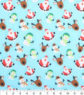 Holiday Cotton Fabric -Santa and Friends