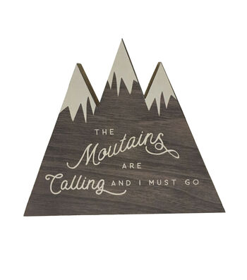 Camp Ann Word Block-The Mountains are Calling and I Must Go