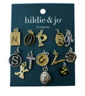 hildie & jo 13 Pack N thru Z Letter Charms-Multi