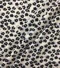 Knit Prints Rayon Spandex Fabric-Black White Cheetah