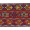 Simplicity Woven Band Trim 2\u0027\u0027-Red & Blue Geometrics