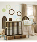 Wall Pops Blue Green Brown Dot Decals Rings, 18 Piece Set