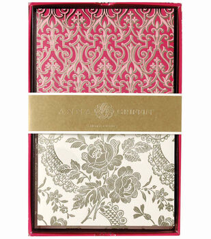 Anna Griffin Pink 24 Ct Note Cards