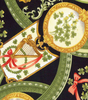 St. Patrick's Day Fabric 43''-Vintage Luck of the Irish