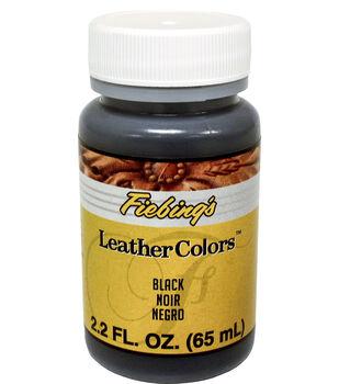 Fiebing's 2.2 fl. oz. LeatherColors Leathercraft Dye-Black