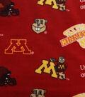 University of Minnesota Gophers Fleece Fabric -Allover