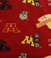 "University of Minnesota Gophers Fleece Fabric 58""-Allover, , hi-res"