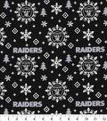 Oakland Raiders Christmas Cotton Fabric-Holiday