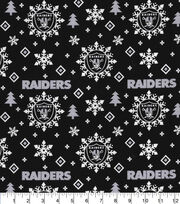 Oakland Raiders Christmas Cotton Fabric-Holiday, , hi-res