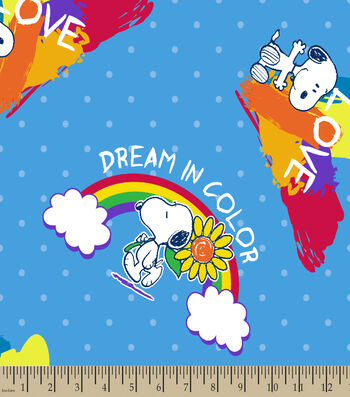 Peanuts Print Fabric-Dream In Color