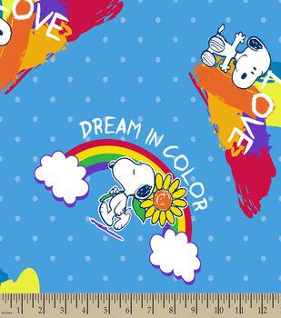 Peanuts Print Fabric-Dream In Color