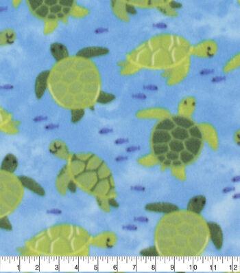 Blizzard Fleece Fabric-Swimming Turtles