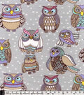 Snuggle Flannel Fabric -Colorful Owl Friends