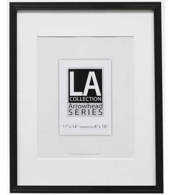 LA Collection Frameworks Series Plastic Portrait Frame 11''x14''-Black