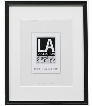12235efedb3 LA Collection Frameworks Series Plastic Portrait Frame 11  x14  -Black