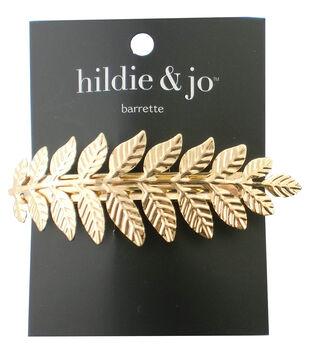 hildie & jo Leaves Gold Barrette