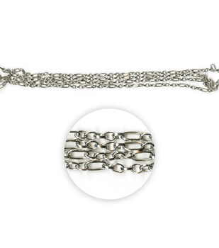 """Blue Moon Beads Metal Chain, Oval & Long Oval Rolo, Antique Silver-70"""""""