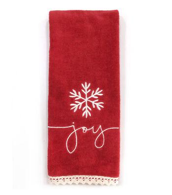 Maker's Holiday Christmas 15''x28'' Kitchen Towel-Joy