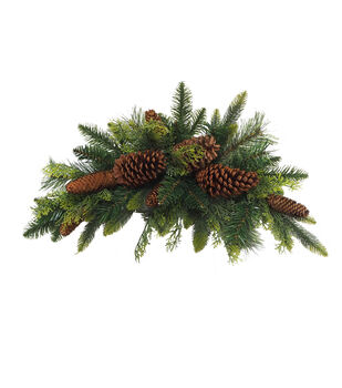 Handmade Holiday Christmas Water Resistant Pine & Pinecone Outdoor Swag