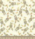 Bunny Rabbits and Carrots Print Fabric