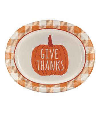 Simply Autumn 8 pk 12'' Oval Platters-Pumpkin