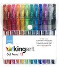 KINGART Soft Grip Gel Pen Set 12pk-Assorted Colors
