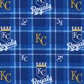 Kansas City Royals Flannel Fabric-Plaid