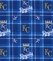 "Kansas City Royals Flannel Fabric 42""-Plaid, , hi-res"