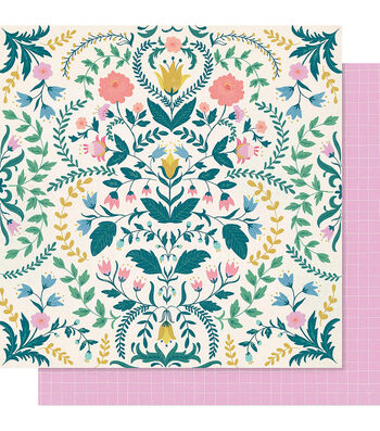 """Maggie Holmes Willow Lane Double-Sided Cardstock 12""""X12""""-Sentiment"""
