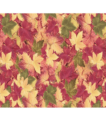 Harvest Cotton Fabric-Fall Leaves