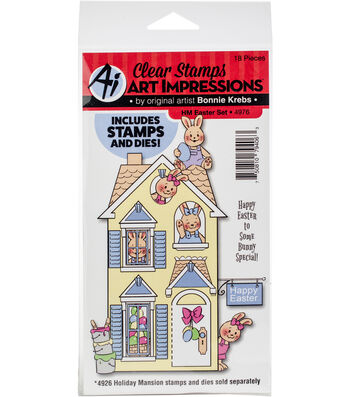 Art Impressions Holiday Mansion Stamp & Die Set-Easter
