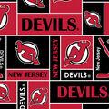 New Jersey Devils Fleece Fabric 60\u0027\u0027-Block