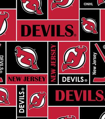 New Jersey Devils Fleece Fabric 60''-Block