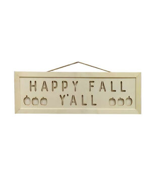 Simply Autumn Craft Laser cut Wood Sign-Happy Fall Y'all