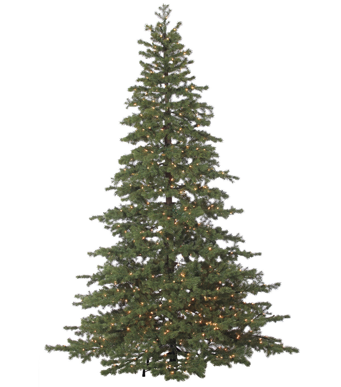 Superieur Bloom Room 8u0027 Flat Pine Pre Lit Christmas Tree