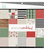 Heidi Swapp Single-Sided Paper Pad 12''X12'' 36/Pkg-Winter Wonderland, , hi-res