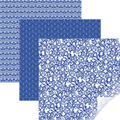 Cricut 12\u0027\u0027x12\u0027\u0027 Removable Matte Patterned Vinyl Samplers-Blue Filigree